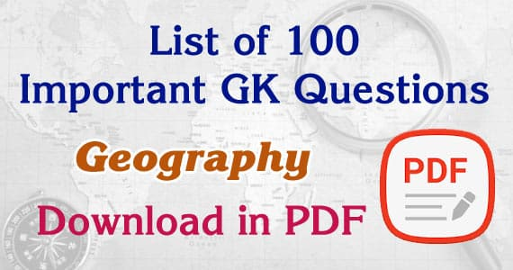 Geography GK Questions 751-785 Download Free PDFs Geography Notes